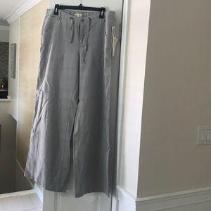NWT Wide leg gray Linen Pants